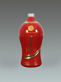 广东喷釉烤花瓶