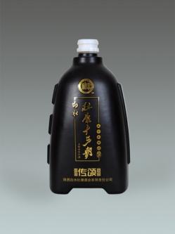 定制喷釉烤花瓶