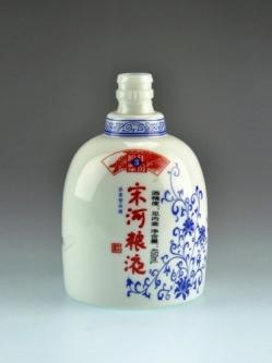 定制乳白烤花瓶